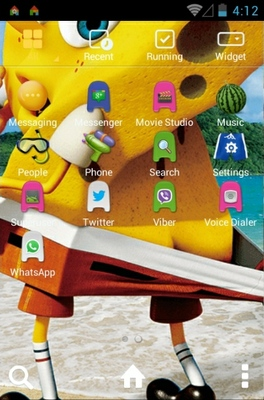 Spongebob 3D Oops android theme application menu