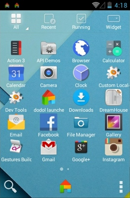 Android Lollipop android theme application menu
