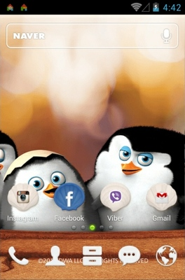 Madagascar  android theme home screen
