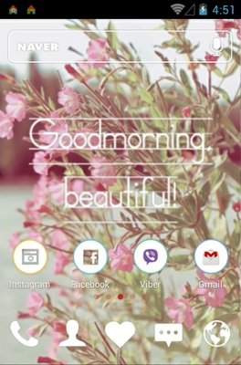 Goodmorning android theme home screen