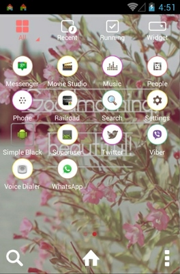 Goodmorning android theme application menu
