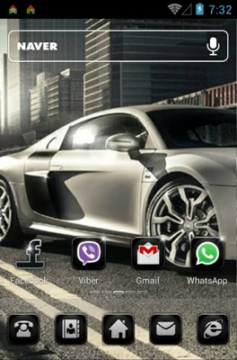 City racing android theme home screen