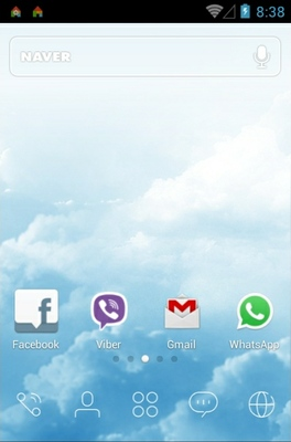 Sky Dream android theme home screen