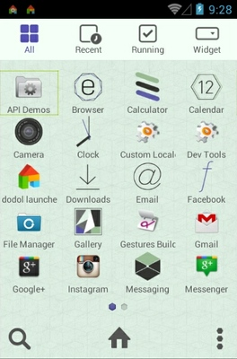 Graphic Art android theme application menu