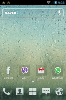 Rainy Day android theme home screen