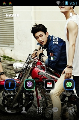 GOT7 android theme home screen