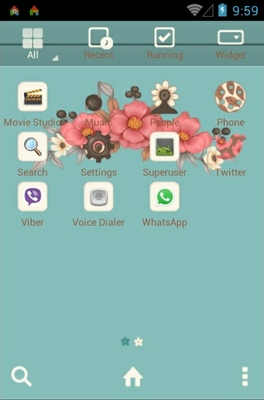 Blossom android theme application menu