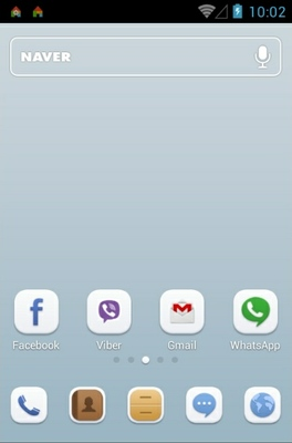 Soft Button android theme home screen