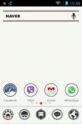 Vintage Label android theme home screen