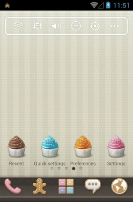 android theme 'Sweet Cupcake'