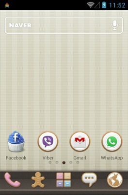Sweet Cupcake android theme home screen