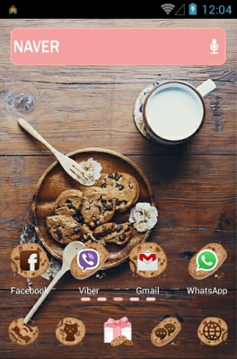 Chocochip Cookies android theme home screen