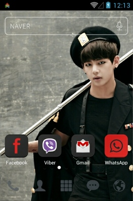 BTS TRB V android theme home screen