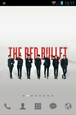 android theme 'BTS The Red Bullet'