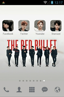 BTS The Red Bullet android theme home screen