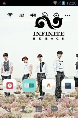 INFINITE Back android theme home screen