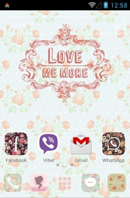 Spring Memories android theme home screen