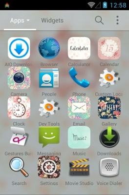 Spring Memories android theme application menu