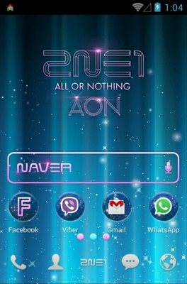 2NE1 WORLDTOUR AON android theme home screen