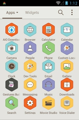 Honey Village android theme application menu