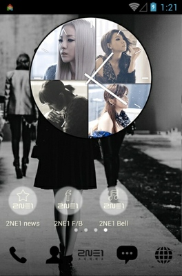 2ne1 Missing You android theme home screen