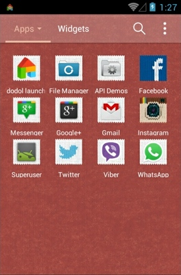 Softly Knit android theme application menu