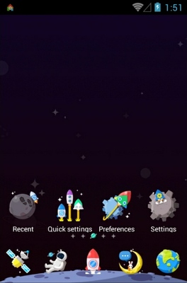 Colorful Space android theme