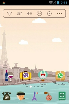 Exciting Paris android theme home screen