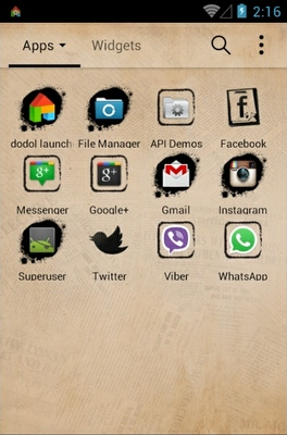 Mr Detective android theme application menu