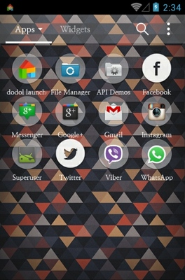 Indiprism Dodol  android theme application menu