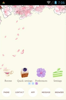Flower rain android theme
