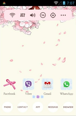 Flower rain android theme home screen