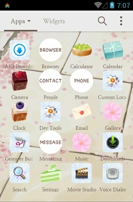 Flower rain android theme application menu