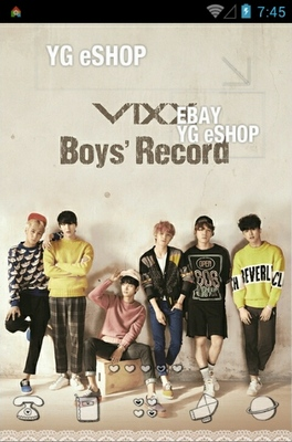 android theme 'VIXX Boys' Record'
