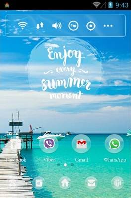 Summer Moment android theme home screen