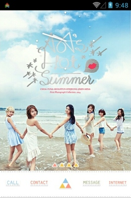 android theme 'AOA Hot Summer'