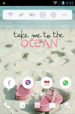 Beach android theme home screen