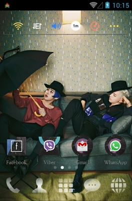 GD X TAEYANG PARIS android theme home screen