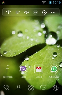 Morning Green android theme home screen