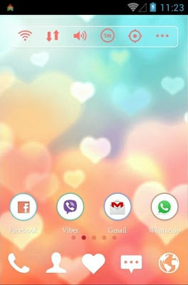 Mint Peach android theme home screen