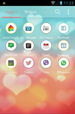 Mint Peach android theme application menu