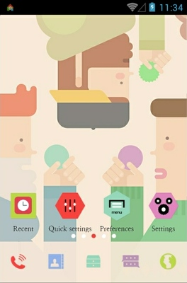 Colorful Sticker android theme home screen