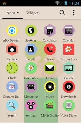 Colorful Sticker android theme application menu