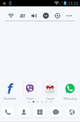 I'm Real android theme home screen