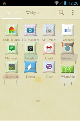 Cushion In My Room android theme application menu