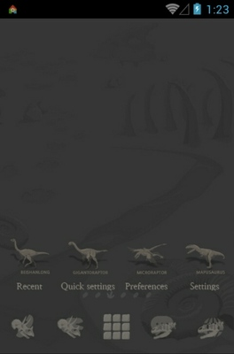 android theme 'Jurassic Park Simple'