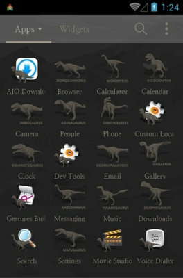 Jurassic Park Simple android theme application menu
