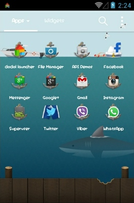 Jaws android theme application menu