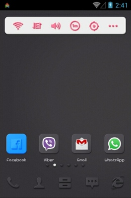 Black N Vivid android theme home screen