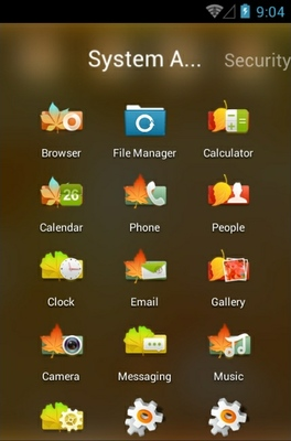 Memories android theme application menu